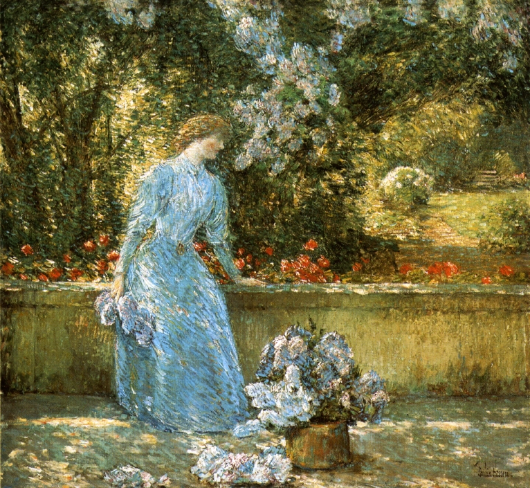 Lady in the Garden by Frederick Childe Hassam - 1897