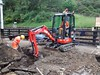 Stephen and Michael dig the Goathland shop foundations 11Jun16