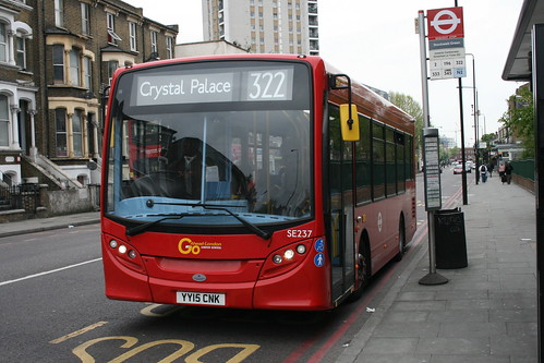 London General SE237 on Route 322, Stockwell Green