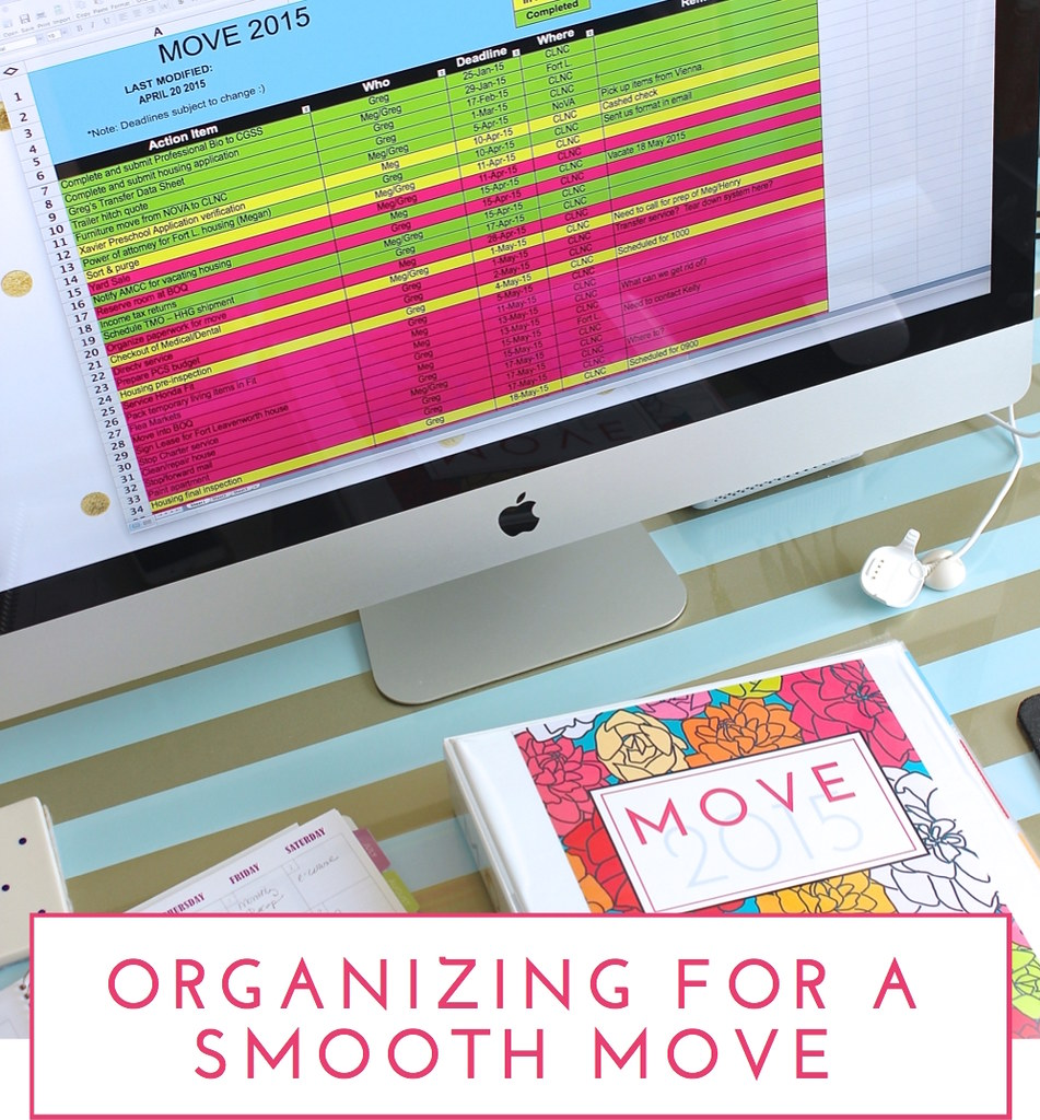 Organizing a Smooth Move - The Homes I Have Made