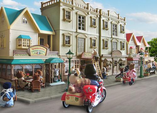 Sylvanian families - Street scene