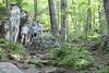 Humpback Rocks - Britt, Vicky, Chris, Sagan on Trail
