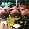 Brown mango dessert cup:bear: I saw them at Maxim cake shop but I didn't buy it coz I still have 4 dessert cups in my fridge:sweat: #brown #line #bear #dessertcup #maxim #nospace #bye