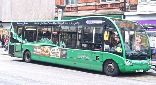 YJ12 GYS 'Nottinghham City Transport' 358 Optare Solo SR. Dennis Basford's railsroadsrunways.blogspot.co.uk