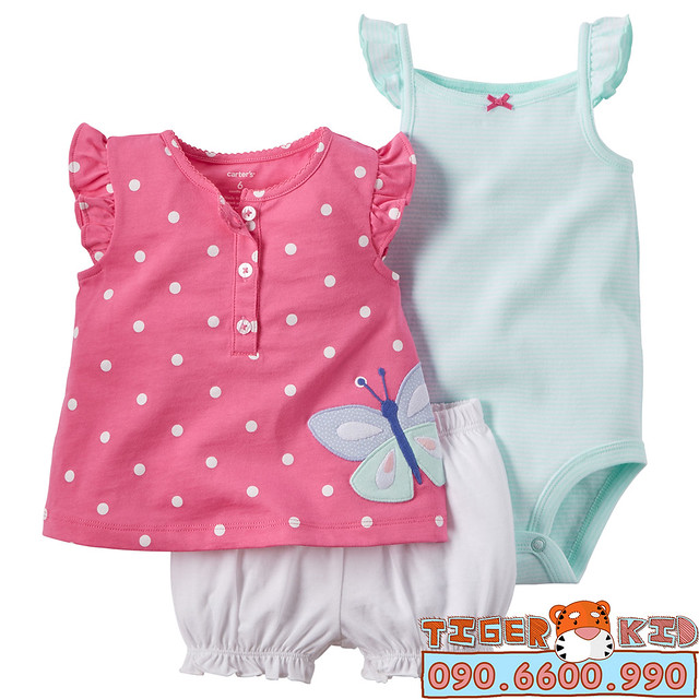 Quần áo trẻ em, bodysuit, Carter, đầm bé gái cao cấp, quần áo trẻ em nhập khẩu, BỘ SET SUMMER NHẬP MỸ