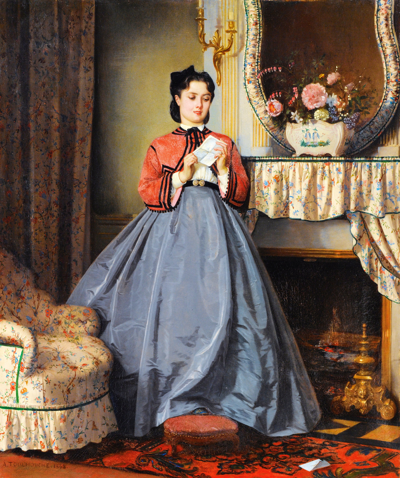 The Love Letter by Auguste Toulmouche, 1863