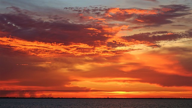 Sunset Over the Tampa Bay
