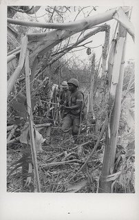 Willie Cheffen Searches for Enemy Bunkers, September 1968