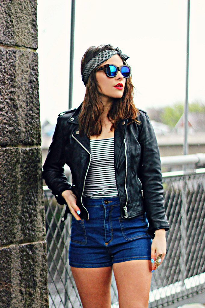 Bershka cropped leather jacket the little magpie 6