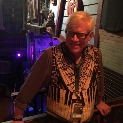WWOZ General Manager David Friedman at Piano Night,