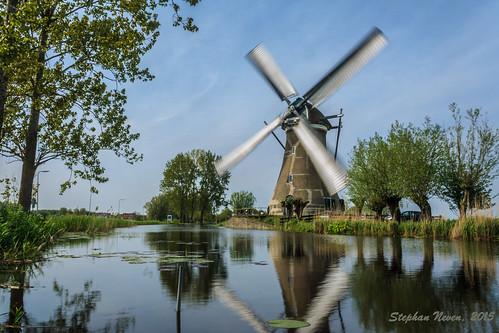 holland mill tourism water netherlands windmill dutch river landscape ditch postcard nederland meadow spinning polder molen zuidholland krimpenerwaard haastrecht vlist molendag boezemmolen stephanneven