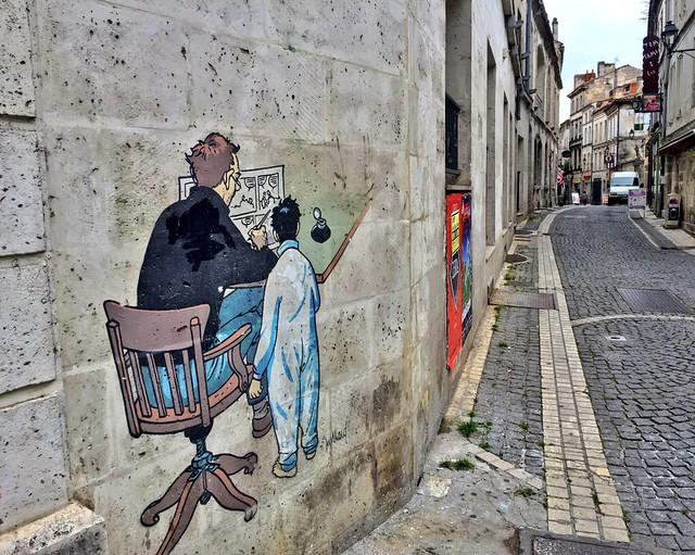 Pared pintada de Angulema, la capital del cómic