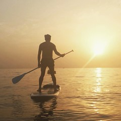 Follow the sun. #beach #paddleboarding #sunset #WHPstrangelight