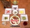 Seara (sea rabbit).  Photograph by Dr. Takeshi Yamada. 20120613 023 Grilled Chicken, Ham & Cabbage. SR w BSS. PBC. PC. T A. Chocolates