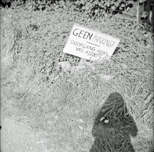 shadow and sign