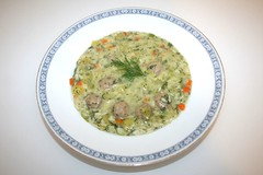 38 - Dill soup with meatballs - Served / Dillsuppe…