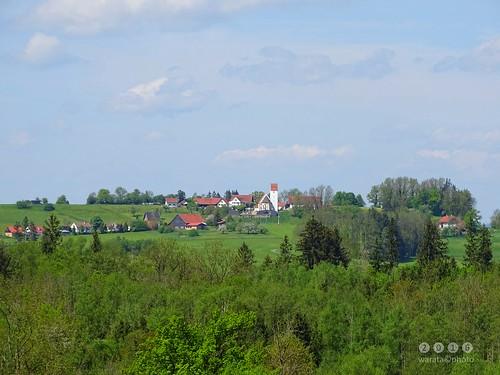 In und um Schachen, ein Ortsteil des oberschwäbischen Marktes Ottobeuren im Unterallgäu - Theinselberg