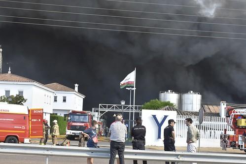 Incendio en la fábrica Ybarra