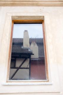 Image of Prague Castle near Hradčany. window reflection goldenlane zlatáulička praguecastle pražskýhrad prague praha