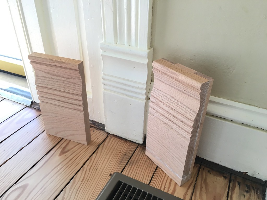 & Making New Plinth Block Moulding Look as Good as Old - Old Town Home