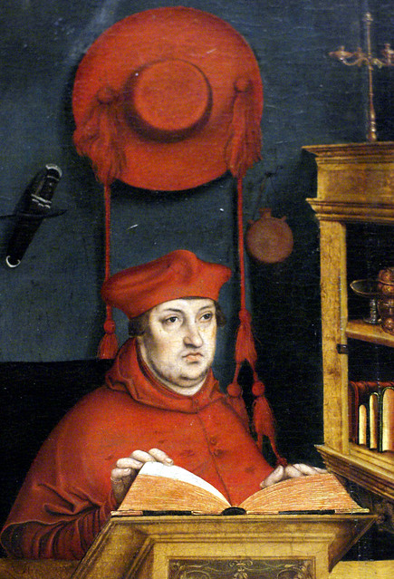 Lucas Cranach d. Ä., Kardinal Albrecht von Brandenburg als hl. Hieronymus in der Studierstube (Albrecht of Brandenburg as St. Jerome in his study) Detail
