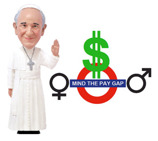 Pope Francis Says the Gender Wage Gap Is a Scandal