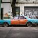 Blue and Orange Car by Superjeanmarc