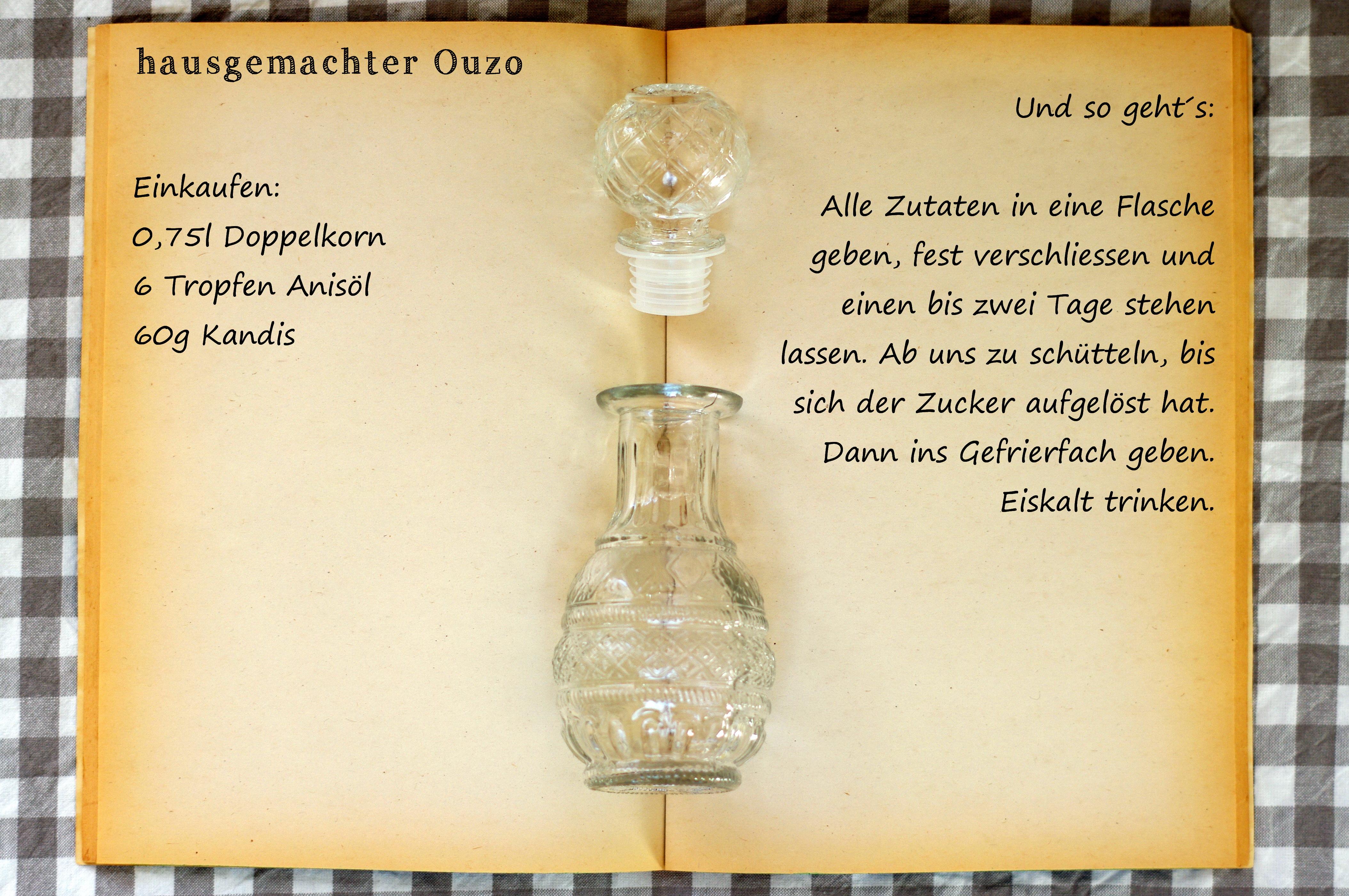 Einkaufszettel Ouzo by Glasgeflüster