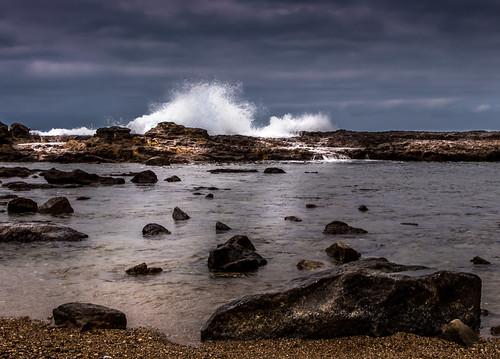 ocean seascape storm beach water coast rocks surf waves vacationspot