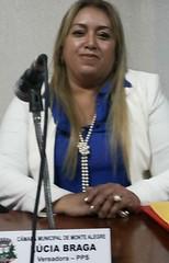 Lúcia Braga, vereadora em Monte Alegre