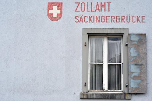 Bad Säckingen Hochrhein Schweizer Seite Zollamt Säckinger Brücke