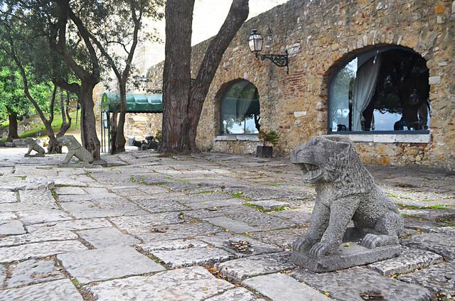 Lions of Lisbon, Castello S Jorge, Lisbon, Portugal