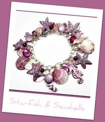 polymer clay seahorse & starfish bracelet