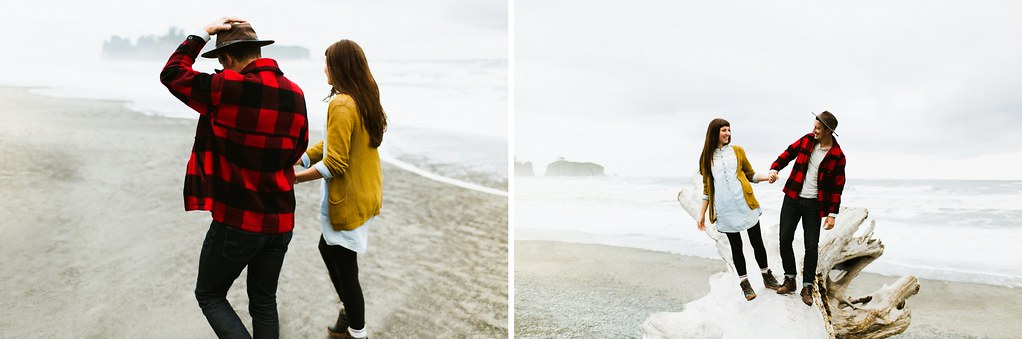 Rialto Beach Washington Couple Session