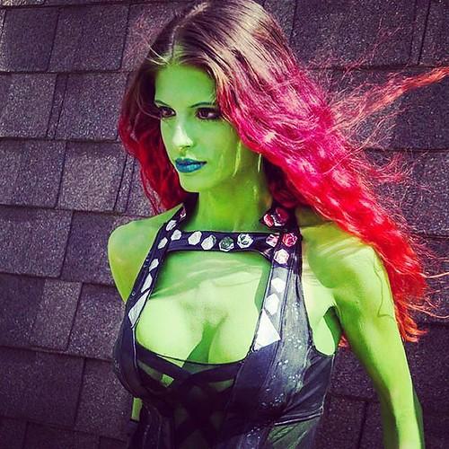 ...  guardiansofthegalaxy  gamora  green  cosplay  kaypikefashion  costume   designer  model edfd55dd4