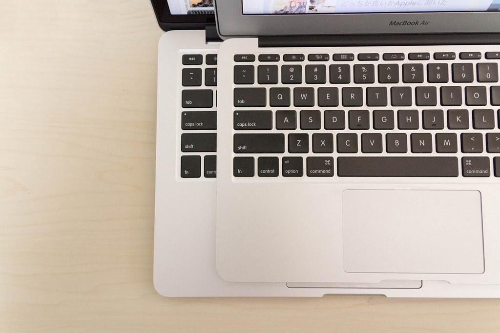 MacBook_ProとMacBook_Airのキーボード比較