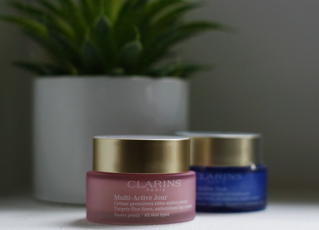 Clarins multi-active face cream day and night