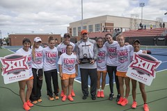 Image Taken at the Big 12 Tennis Championship, Oklahoma State Cowgirls vs Texas Tech Red Raiders, Sunday, May1, 2016, Greenwood Tennis Center, Stillwater, OK. Bruce Waterfield/OSU Athletics