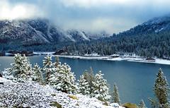 Clouds over Tioga Lake, Yosemite 5-15