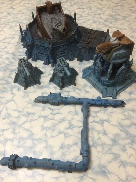 WIP Painting 40k Terrain
