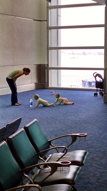Twins at the airport