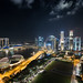 Nightscape of Singapore CBD and Marina Bay Sands by torode