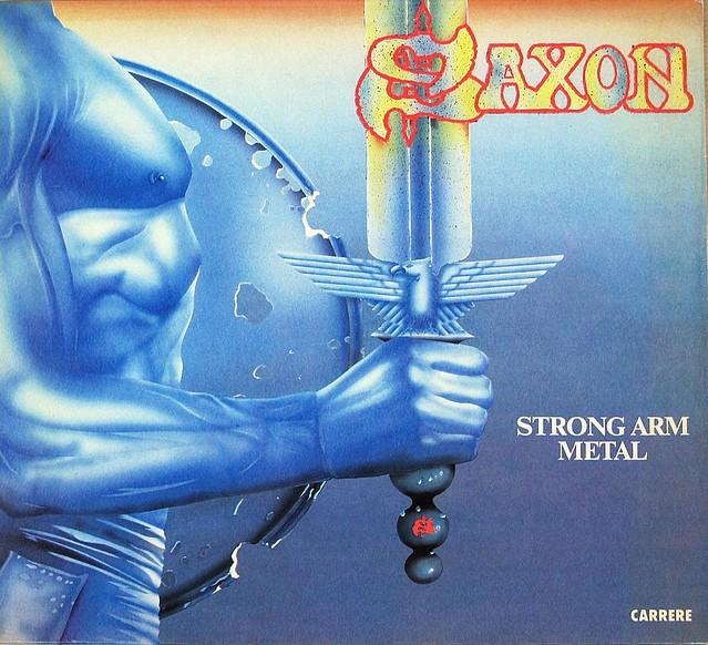 "SAXON STRONG ARM METAL, SAXON'S GREATEST HITS 12"" LP VINYL"