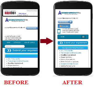 Mobile View Optimization strategy
