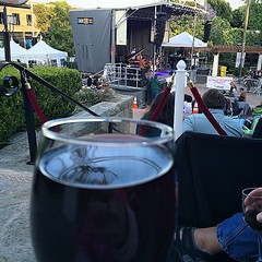 @slojazzfestival with my #glass of @Casswinery #Mourvedre in the @beachbutlerz #VIPsection