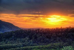 A Sunset over the Appalachian Mountains