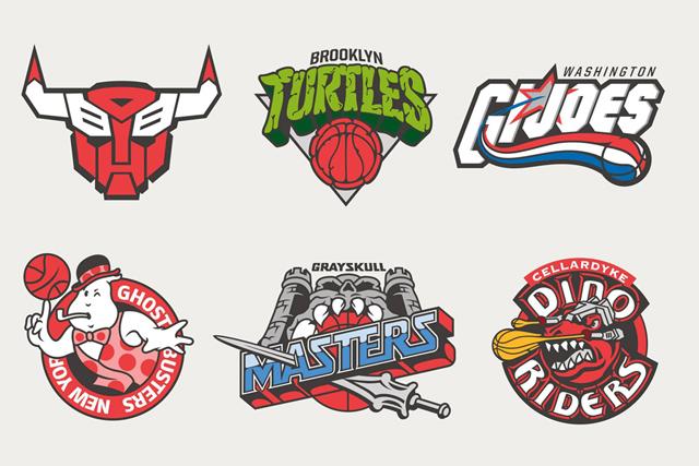 NBA 與經典動畫混搭,打造出夢幻隊伍LOGO!NBA X TOONS mashup~