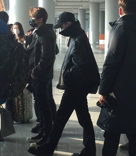 GD TOP Dae departure Beijing to Seoul 2016-01-02 王小一Isabella -