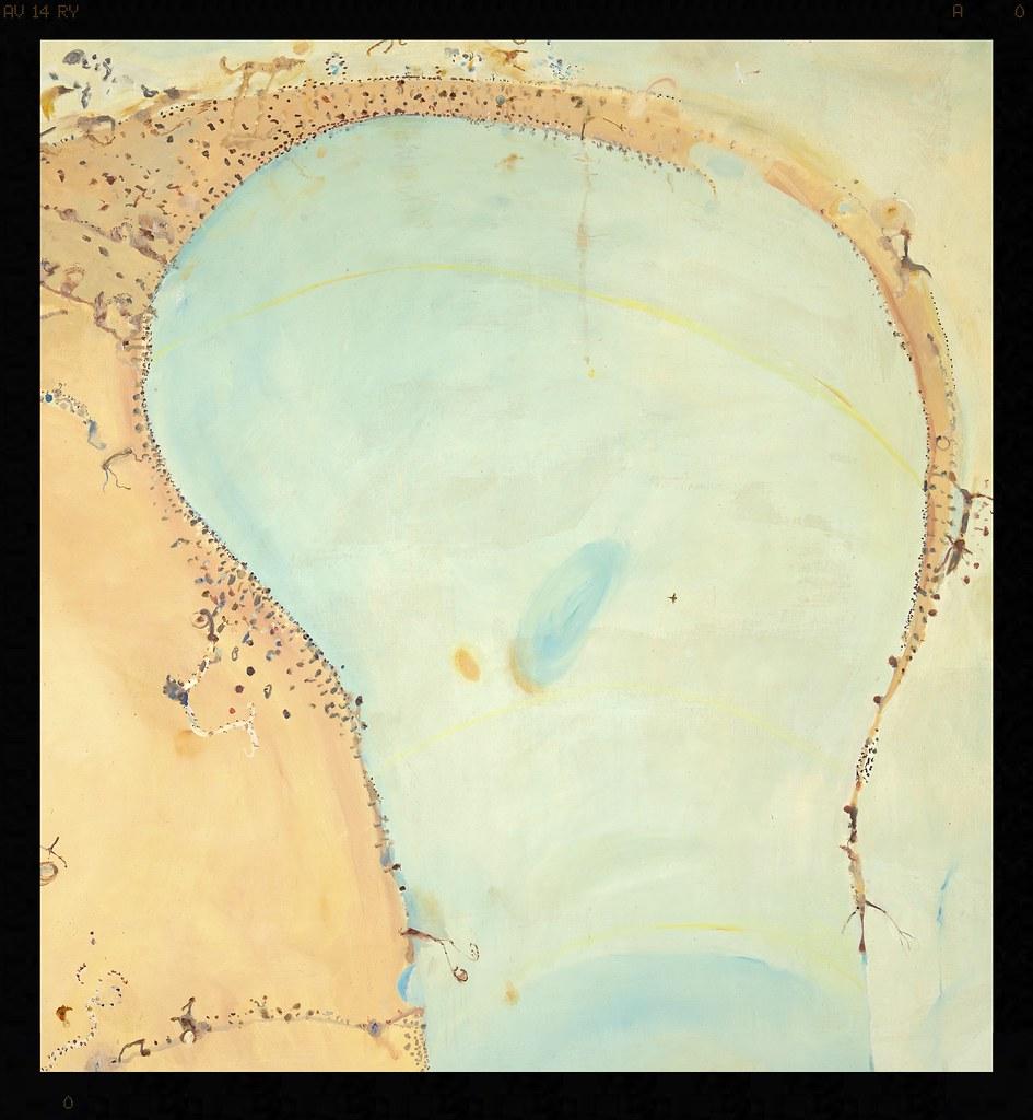 John Olsen born Australia 1928, lived in Europe 1956–60, 1965–67 Lake Eyre 1975 oil on canvas 214.0 x 200.0 cm Private collection © John Olsen, administered by Viscopy, Sydney