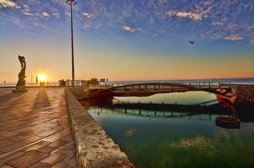 bridge sunset sea sun color colour sol colors rio river puente atardecer dawn mar nikon mediterranean mediterraneo calafell catalonia amanecer catalunya puestadesol 1000views mediterrània 10favs 50faves 10faves 50favs 25favs 25faves ltytr1 1116mm d7000